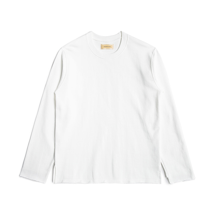 Oversized Raw Edge Sweatshirts - Ivory